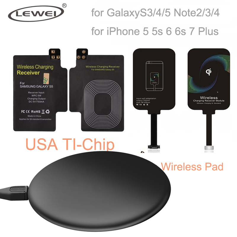 Universal Qi Wireless Charger Pad For Galaxy S3 S4 S5 Note 4 Charging Kit Coil Receiver