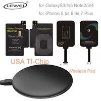Universal Qi Carregador Sem Fio Pad para Galaxy S3 S4 S5 Nota 4 Kit Bobina de carregamento Receiver para o iphone 7 6 s 5 Tipo C Micro USB