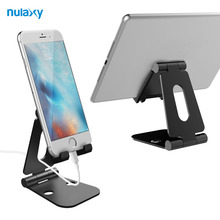 Nulaxy Tablet Stand Adjustable Holder Stand Aluminum Mobile Phone Holder Stand Portable Desk Tablet Phone Stand for iPad iPhone
