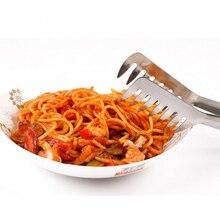 1 шт. щипцы для спагетти щипцы для пасты из нержавеющей стали Ручка салат кухонная утварь лапша зажим ручка для приготовления пищи столовые приборы для пасты