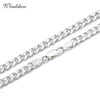925 Sterling Silver Curb Chain Link Colares Homens Jóias collares Collier kolye Hiphop 50 cm 55 cm 60 cm 4mm 6mm ketting collane