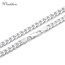 925 Sterling Silver Curb Chain Link Necklaces Men Jewelry collares kolye Collier Hiphop 50cm 55cm 60cm 4mm 6mm ketting collane