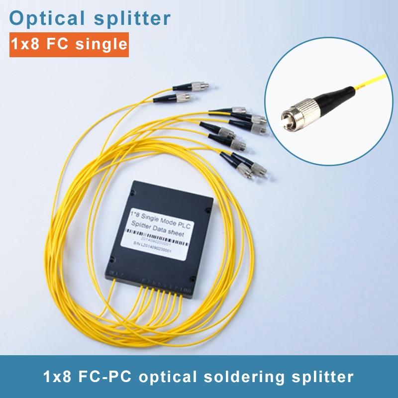 5 pièces FC UPC 1x8 1.5 M diviseur optique de PLC de Boîte D'ABS FTTH PLC Monomode splitter 1x8 SM FC/UPC Fibre Optique Splitter
