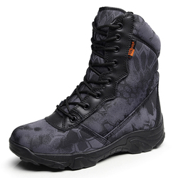 Men Tactical Military Boots Autumn Winter Waterproof Leather Army Boots Desert Work Safty Shoes Timber Land Combat Ankle Boots