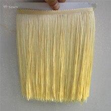 1 ярд/лот 25 см длинная полиэфирная кружевная бахрома с кисточками бежево-желтая кружевная лента для пришивания латинских платьев для одежды занавески аксессуары для самостоятельной сборки