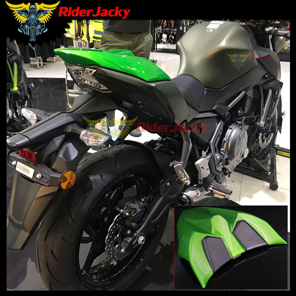 RiderJacky For Kawasaki Z650 Z 650 2017 2018 Ninja 650 2 ABS Plastic Green Motorcycle Fairing Rear Seat Cover Cowl Cowling