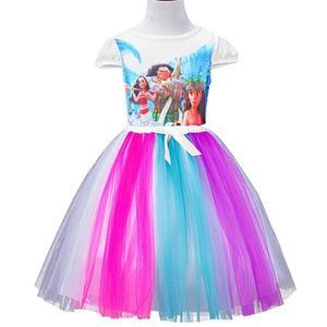 2018 new Girls Princess Dress for Kids little pony/Elsa/Anna girls Short Sleeve Cotton Tutu Dresses For Girl Christmas Costume
