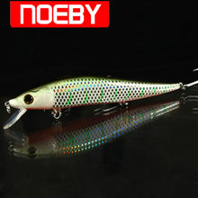 NOEBY Bleistift Angeln Locken 125mm 23g Schwimm 0-2m VMC Haken Harten Köder Leurre Souple Angeln wobbler Peche A La Carpe Swimbait(China)