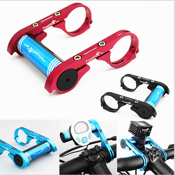 TrustFire Carbon Fiber Lighthouse Bike Bicycle Handlebar Extender Extension Mount Bracket Holder for Bicycle Light Flashlight handlebar mount bicycle
