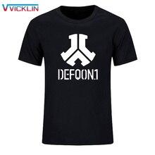 Defqon 1 дизайнерская футболка из чистого хлопка мужские футболки с принтом в стиле хип-хоп Мужская рубашка с коротким рукавом футболки модные повседневные футболки XS-XXL