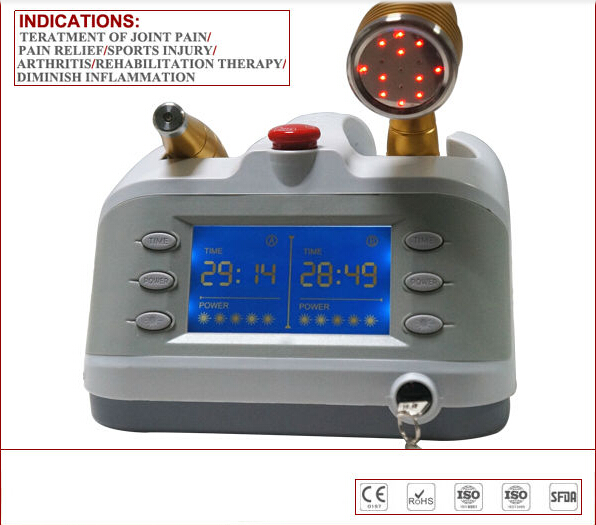 CE Healthcare Physiotherapy Professional Body Pain Relief Device Diode Low level cold laser therapy 2 Laser Probes free shipping 808 nm cold laser therapy for arthritis muscles pain knee pain relief healthcare physiotherapy device massager machine