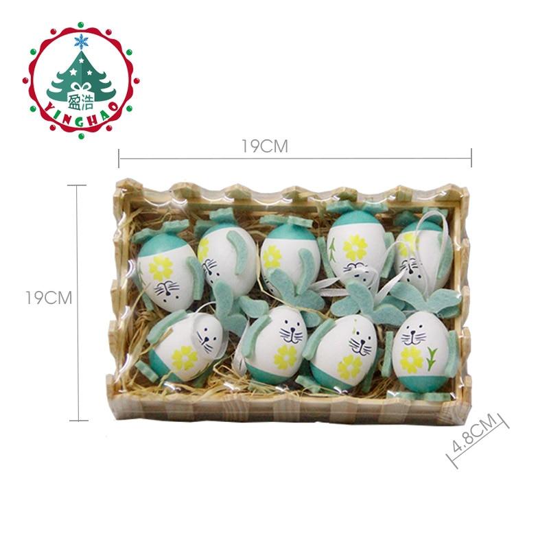 inhoo 9pcs Easter Eggs Rabbit Gift Desktop Ornament Easter Decor - Feestversiering en feestartikelen - Foto 4