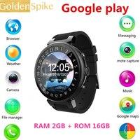 Smartwatch Relógio inteligente I6 Android 5.1 cartão Nano SIM 3G Wi-fi MTK6580 freqüência cardíaca GPS Relógio rastreador de Telefone RAM 2 GB ROM 16 GB