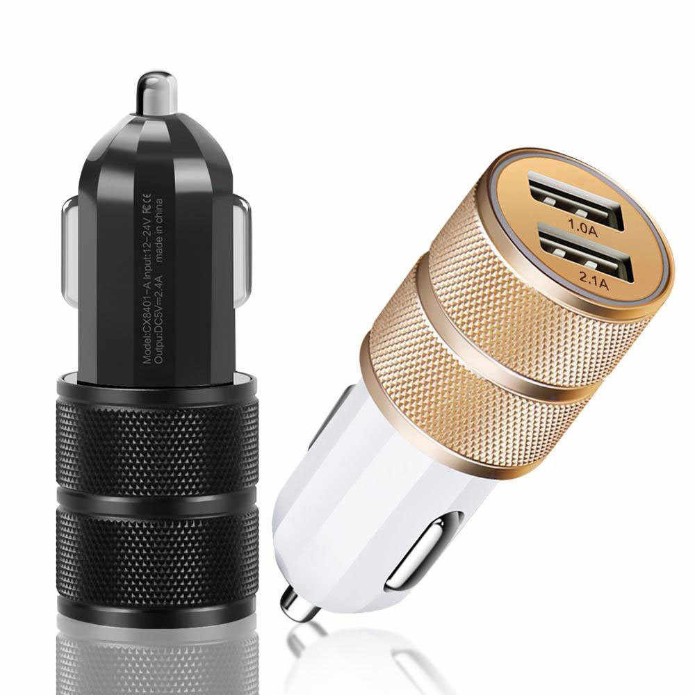 2019 Dual USB Car Charger 3.1A 24W Fast Charging Charger For Mobile Phone Car-Charger For Samsung Xiaomi Iphone X 8 7 6 Plus