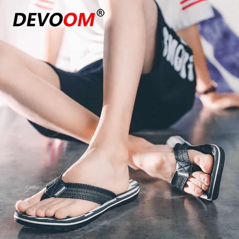 แฟชั่นฤดูร้อน 2019 Teenslippers ผู้ชายรองเท้าแตะกลางแจ้ง Tong Homme T Pantoffels Heren สไลด์ผู้ชายร้อนขายรองเท้าแตะในร่ม