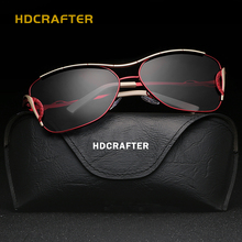 HDCRAFTER Brand Large sunglasses polarized sunglasses driving sun glasses classic women sunglasses femininity free shipping E914