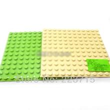 *Plate 12 x 12 3pcsDIY enlighten block bricks,Compatible With Duplo Assembles Particles