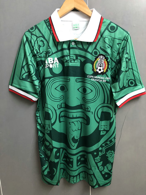 003af2be7 1998 mexico home away retro soccer jerseys Customizable top quality  football shirts