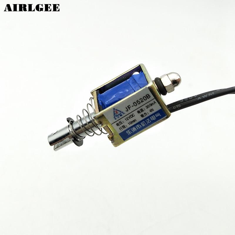 Haute qualité DC 12 V 4N Push Pull Linéaire Actionneur Électro-Aimant Solénoïde JF-0520B Livraison gratuite