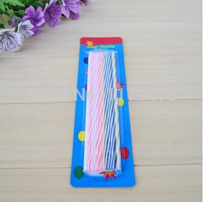 1 Set Popular Long Birthday Candles Lovers Couples Children Party Wedding Show Gifts