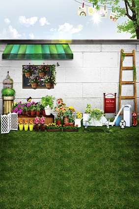 300CM*200CM(about 10ft*6.5ft) backgrounds Peripheral wall flowers ladder photography backdrops photo LK 1564 300cm 200cm about 10ft 6 5ft backgrounds plush blanket windows leaves photography backdrops photo lk 1492