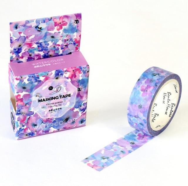 The Flowers of Imagination Decorative Washi Tape DIY Scrapbooking Masking Tape School Office Supply Escolar Papelaria kinston flowers