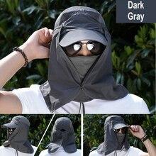 Unisex Anti UV Sunshade Fishing Caps Hats Women Men Outdoor Sports Hunting Fishing Hiking Traveling Camping
