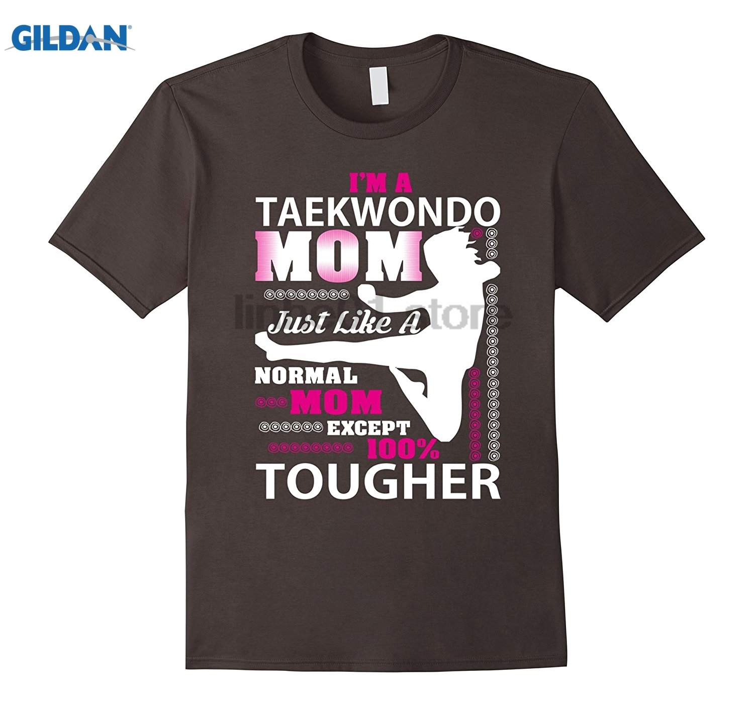 GILDAN Im A Taekwondo Mom Just Like Normal Mom T-Shirt Hot Womens T-shirt Dress female T ...
