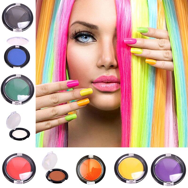 Hair Color Temporary Hair Dye Chalk Compact Pressed Powder Hair