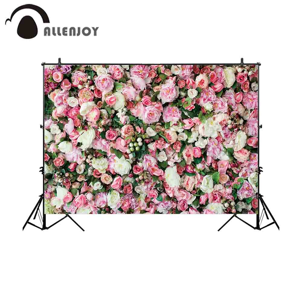 Allenjoy Backdrop For Photographic Studio Beautiful Flowers Wall