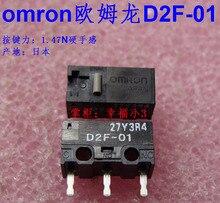 10 Stks/partij Made In Japan 100% Originele Omron Muis Micro schakelaar Muisknop D2F 01 1.47N Gouden Contacten 10 Miljoenen Levensduur