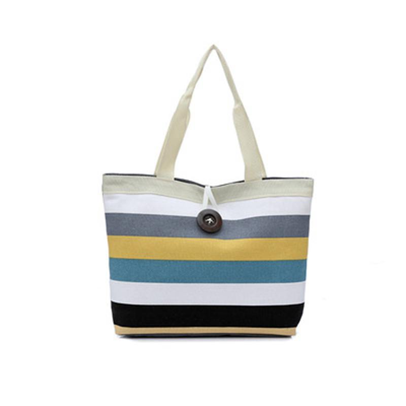 NIBESSER 2018 Summer Canvas Women Beach Bags Fashion Color Printing lady Girls Handbags Shoulder Casual Bolsa Shopping Bags fabra women beach canvas bag patchwork color stripes printing handbags lady large shoulder bag totes casual bolsa shopping bags