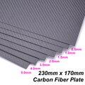 Панель из углеродного волокна 230 мм x 170 мм 3k  0 5 1 1 5 2 3 4 5 мм  полотняная твила  матовая поверхность  лист из углеродного волокна