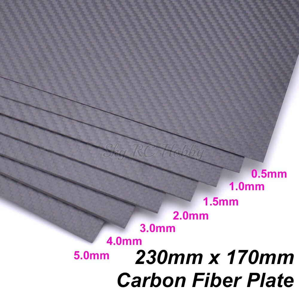 230mm x 170mm 3 k Placa De Fibra De Carbono Painel 0.5 1 1.5 2 3 4 5mm Simples sarja Superfície Mate Folha de Painel de Placa De Fibra De Carbono Completo