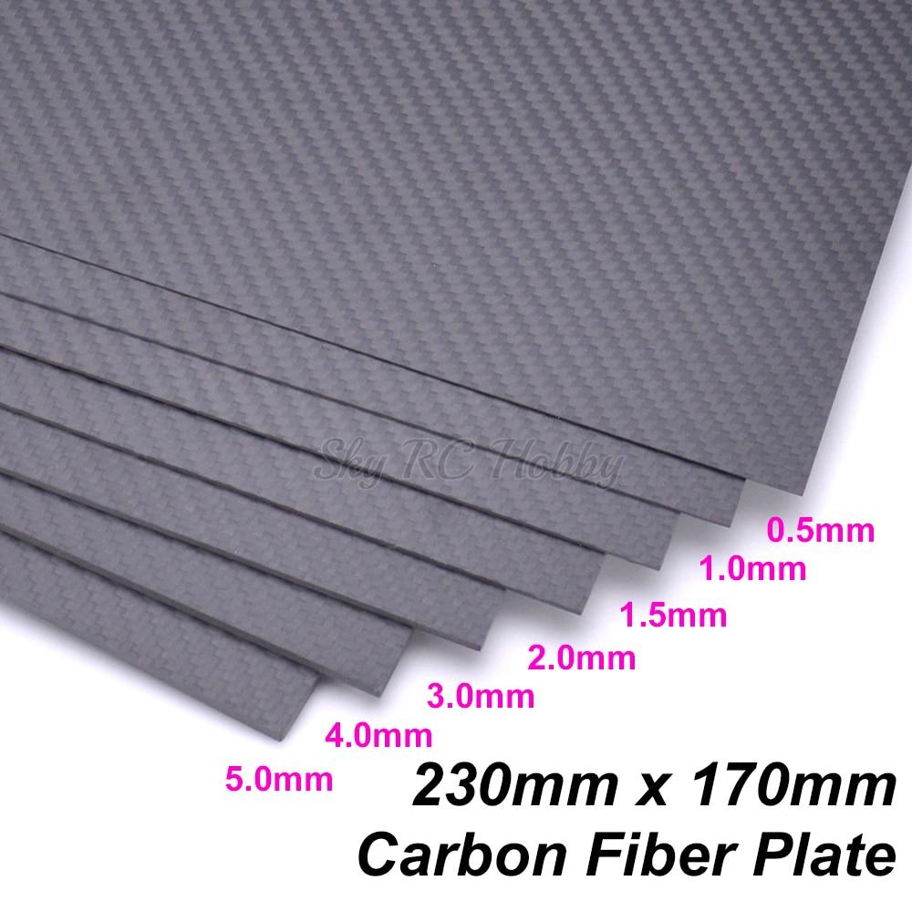 DIY 200x300 0.5-3mm Full Carbon Fiber Plate Panel Sheet 3K Plain Weave Glossy UK