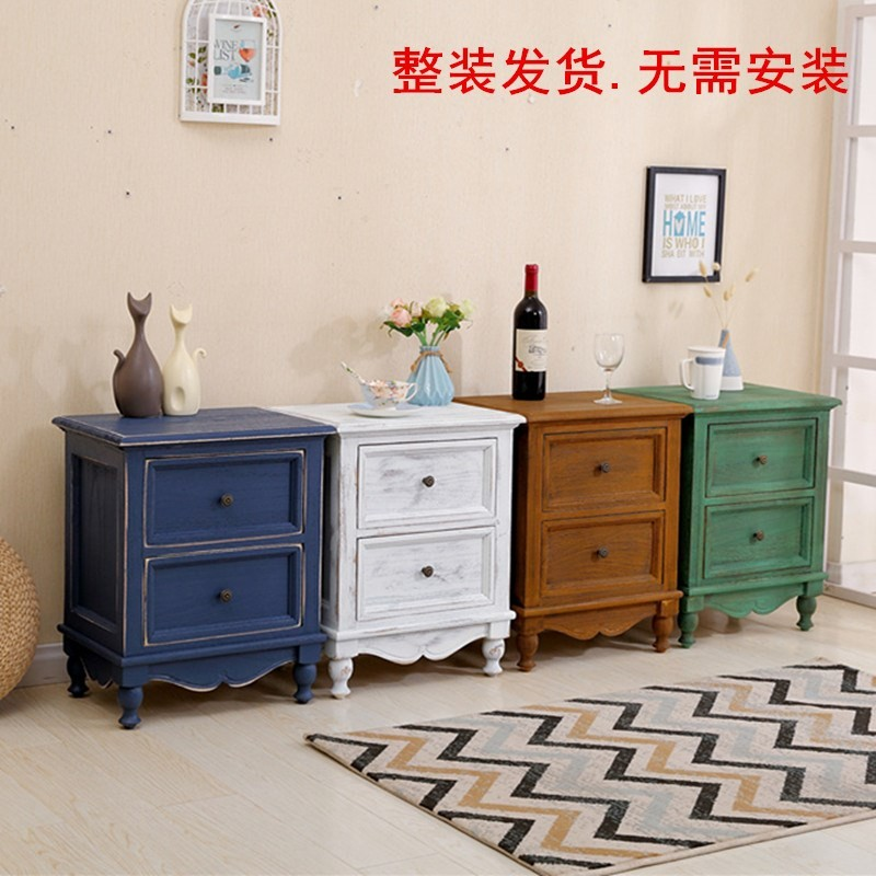 European Solid Wood Bedside Cabinet