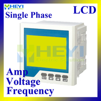 LCD Single phase ampere voltage frequency combined meter 96*96 mm panel meter mini digital meters