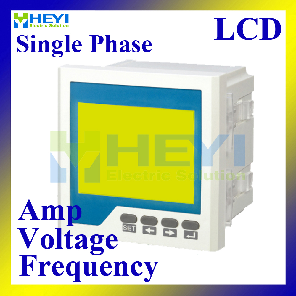 LCD Single phase ampere voltage frequency combined meter 96*96 mm panel meter mini digital meters d6 4o panel size 72 72 low price and high quality ac single phase led digital energy meter for industrial usage