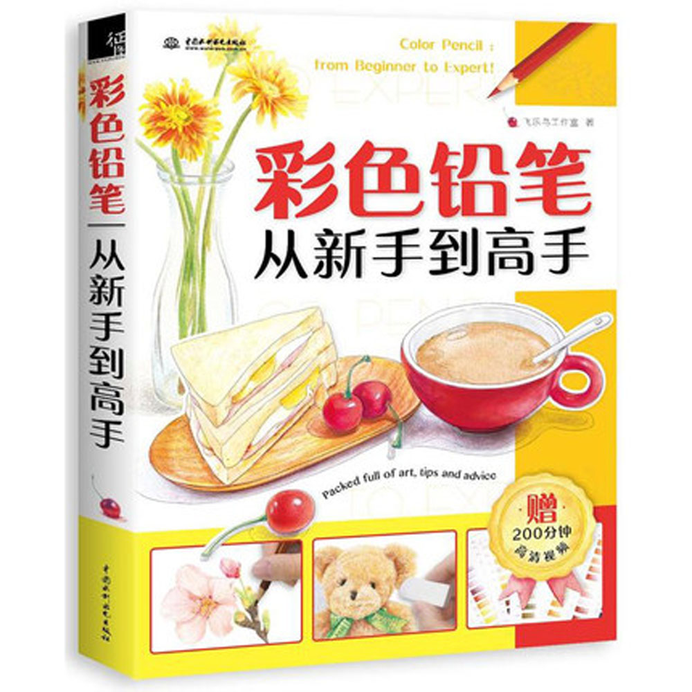 Color Pencil: From Beginner To Expert! Chinese / Coloring Pen Pencil Basic Introductory Tutorial Materials Book Textbook