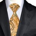 A-1395 Желтый Цветочные Галстуков Для Мужчин Платье Бренд Привет-галстук 2016 Осенью Новый Жаккардовые Ткани Шелковые мужские Галстуки галстуки Классический Cracate