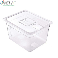 JUSTBUY Sous Vide Container with Lid 11L Water Tank Bath for Circulator Sous Vide Culinary Immersion Slow Cooker