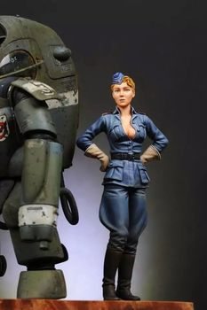 1/20 Scale German Science Fiction Sexy Female Female Miniatures WWII Unpainted Resin Model Kit Figure Free Shipping