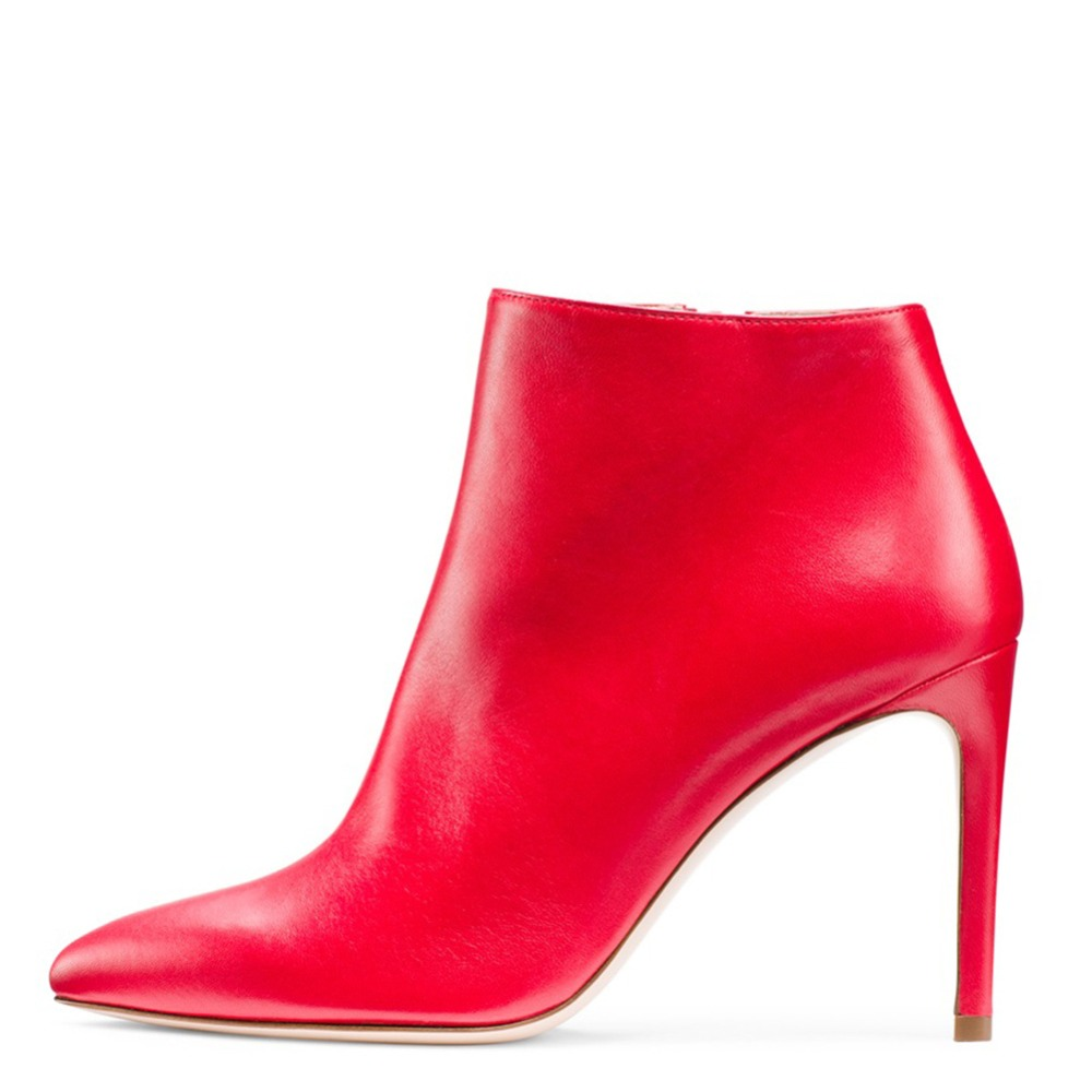 Plus rot Rosa Spitz Plüsch Sexy 46 Heels Winter Stiefel Stiefeletten Frauen Größe Mode Kurze High Motorrad ZwgPq0Z