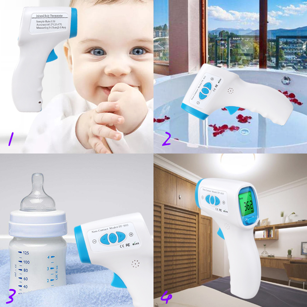 UK LCD Infrared Digital Ear Forehead Thermometer Fever For Baby Kids Health CE