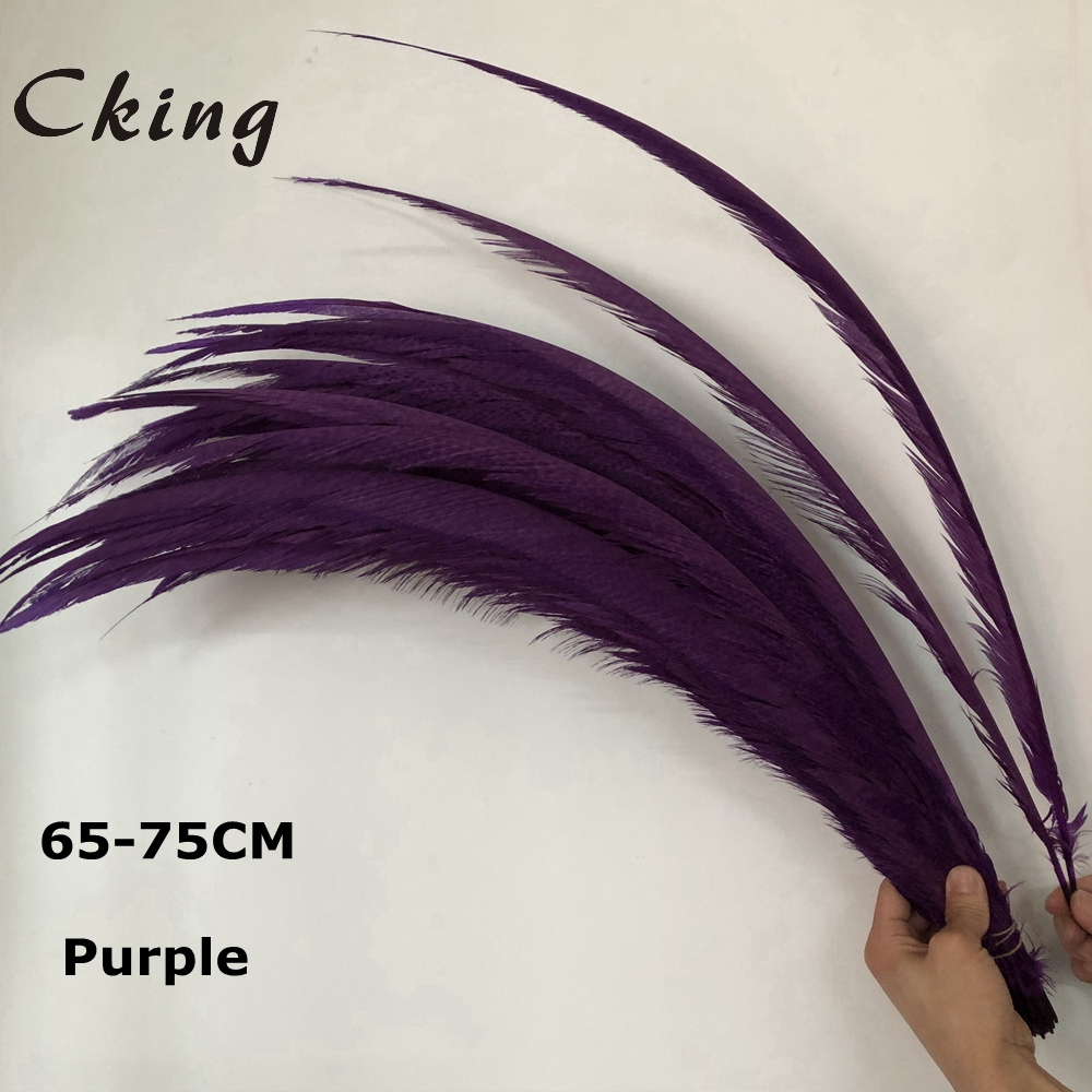 50pc Natural Golden Pheasant Tail Feathers Purple Pheasant Feathers For Crafts Wedding Costume Feathers chicken feathers Plumes