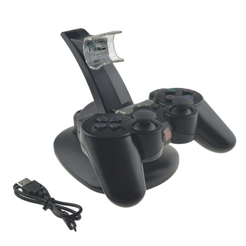 For Playstation3 For Ps3 Dual Charge Usb Charging Dock Wireless Gamepad Controller Double Handle Wireless Charger Led Light Aliexpress