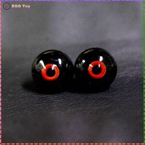 Image 3 - Zabawki oczy szklane oczy dla lalki BJD oczy piłka mała tęczówka 12mm 16MM 18mm czarny czerwony kolor dla 1/4 1/6 1/3 Sd lotita lalki BJD safeye