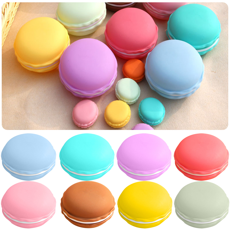 Large Macaron Organizer Storage Box Earphone Case Carrying Pouch Candy Box Size 9.5*4.5 Cm #261287 Bright And Translucent In Appearance Storage Boxes & Bins