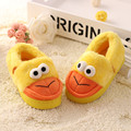 Children Home Shoes Slippers Cotton Shoes For Girls/Boys Cute Duck Cartoon Slippers Kids Warm Plush Velvet Indoor Shoes Winter