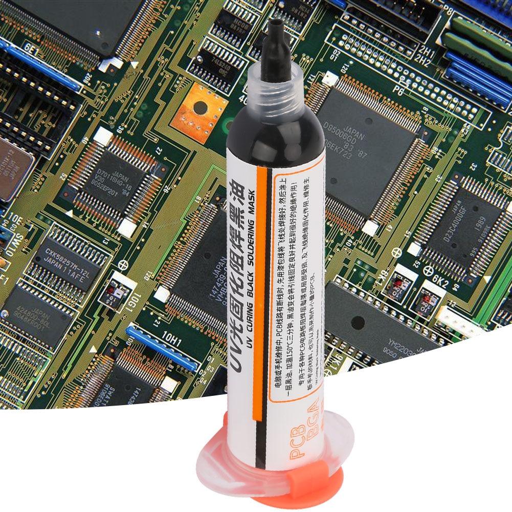 Tinta de m/áscara de soldadura 2 piezas 1PaS UV de curado por luz de tinta de m/áscara de soldadura BGA Placa de circuito impreso Tinta de resistencia de soldadura para aislamiento y protecci/ón de comp